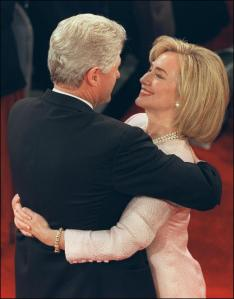 US President Bill Clinton (l) in picture taken 16