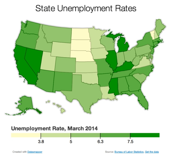 State-Umployment-March-2014