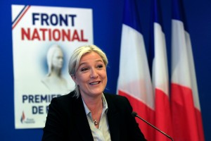 French Far-right Front National (FN) Party President Marine Le Pen Gives A Press Conference The European Elections