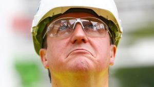 Prime Minister David Cameron Visits A Construction Site