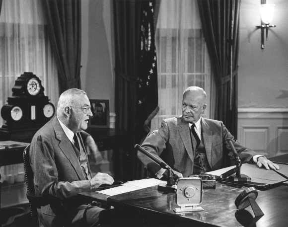 Ike & Dulles From The White House