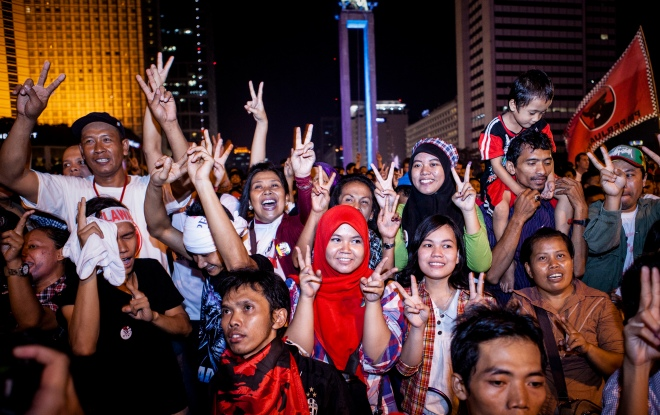 Indonesia Awaits Results Of 2014 Presidential Election