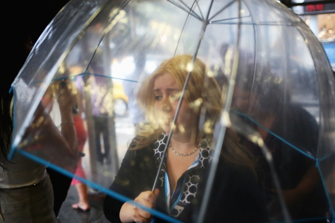 Torrential Rainstorm Pounds Manhattan, Adding To An Already Above Average Rainy July