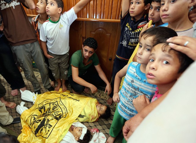 Mourning for 3 children killed by Israeli airstrikes