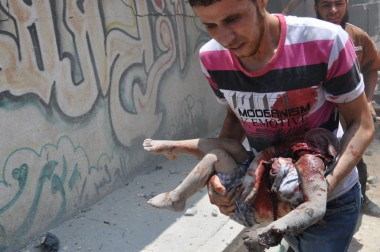 Shujaya neighborhood of Gaza full of dead bodies