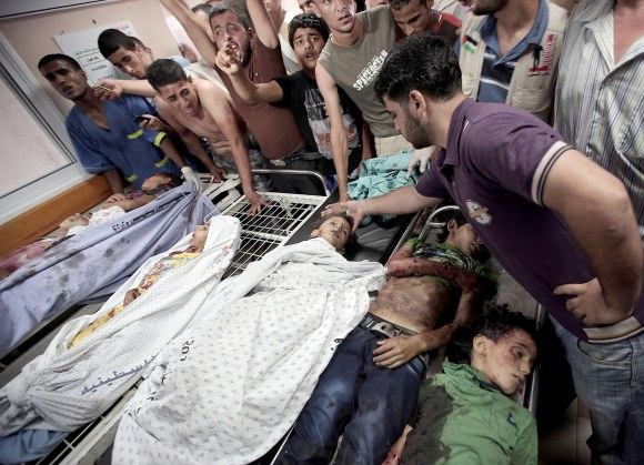 10 children killed by strike on Gaza park