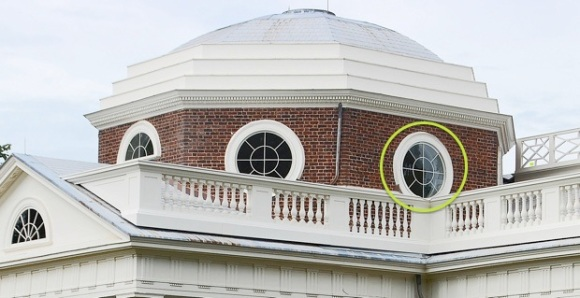 Monticello Dome from South Pavilion