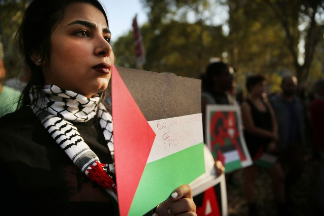 Activists Hold Palestinian Solidarity March And Rally
