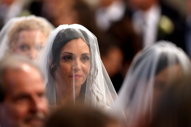 Pope Francis Celebrates Weddings During Sunday Mass