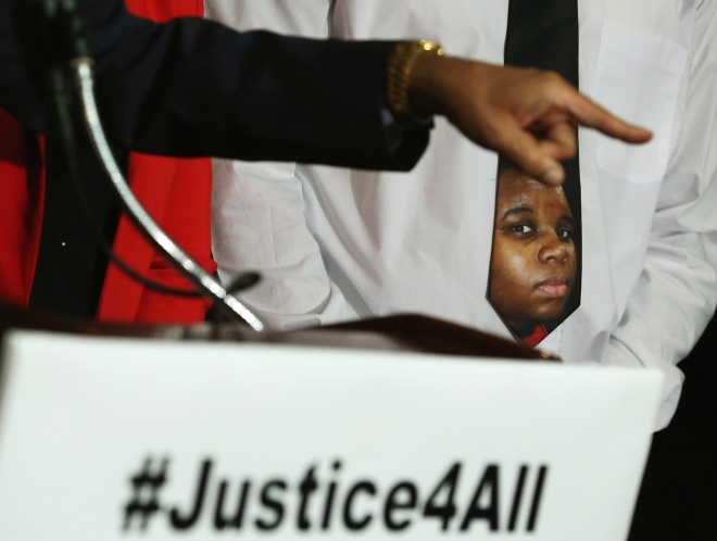 African American Activists Call For Justice In Shooting Deaths In Ferguson And NYC