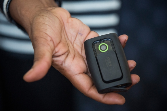 New York City Public Advocate Displays Police Wearable Cameras