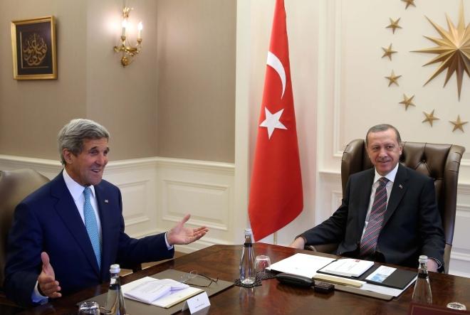 John Kerry - Recep Tayyip Erdogan