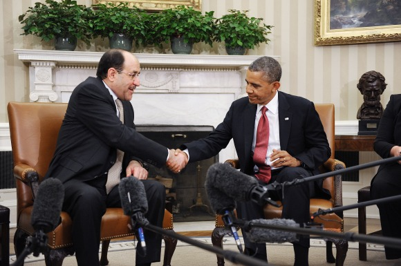 Obama Meets With Iraqi Prime Minister Nouri al-Maliki At White House