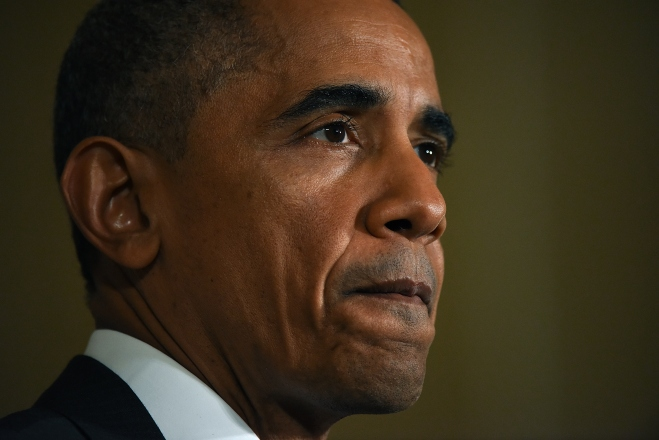 President Obama Delivers Statement In East Room Of White House