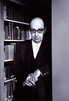 NPG x12937; Philip Larkin by Fay Godwin