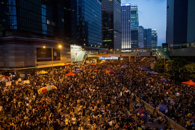 Sit In Protest Continues In Hong Kong Despite Chief Executive's Calls To Withdraw