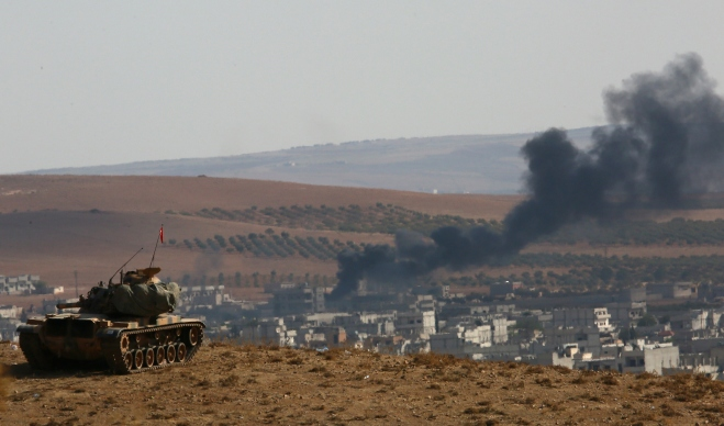 US-led coalition strikes ISIL in Kobane