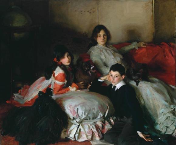 Essie, Ruby and Ferdinand, Children of Asher Wertheimer 1902 by John Singer Sargent 1856-1925