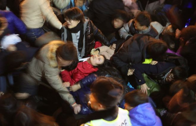 New Year's Eve Stampede Kills At Least 35, Injures Many More In Shaghai.