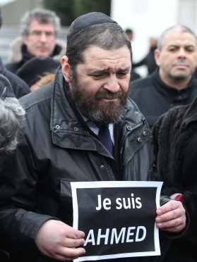 Funeral ceremony held for Ahmed Merabet in Paris