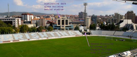 Interior of stadium