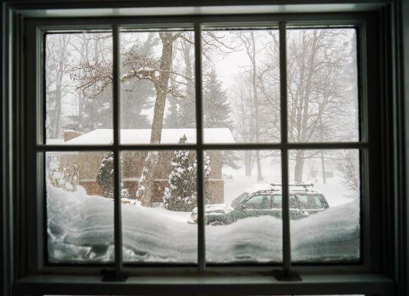 It's a blizzard in Norton Shores, Michigan.  About 4-45pm