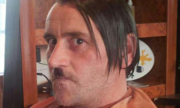 Lutz Bachmann styled as Adolf Hitler